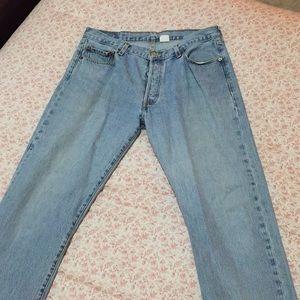 Men's 35x32 LEVI'S button fly straight leg jeans